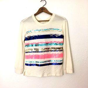 BELLE DU JOUR Sequin Stripe Top & Purse - Girls XL
